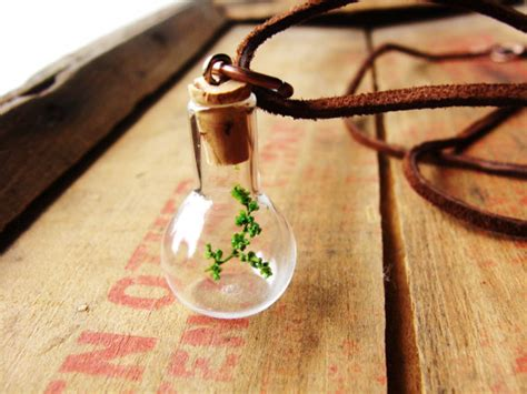 items similar to jar necklace tree necklaces terrarium necklace twig vial gift for him