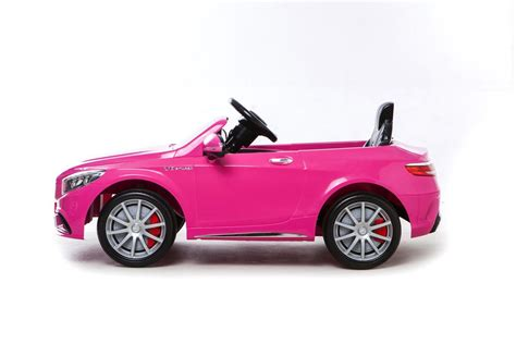 pink mercedes truck mercedes s63 amg electric ride on car pink available