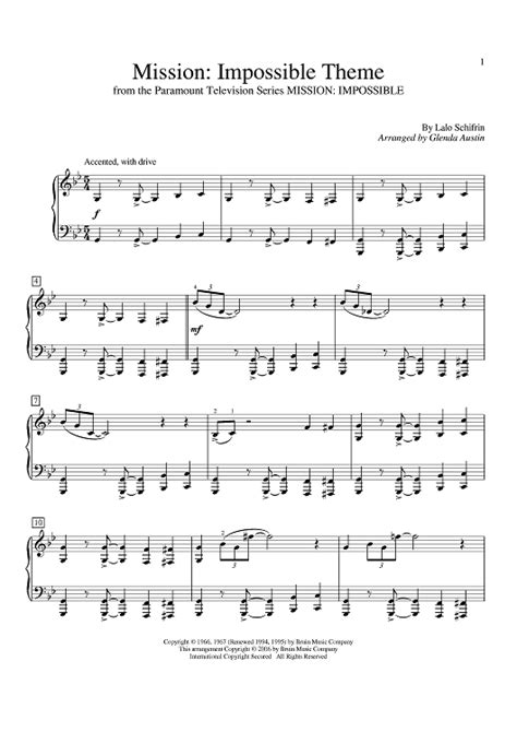 theme music mission impossible download mission impossible theme sheet music for piano and more