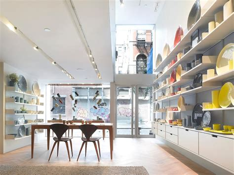 design magazine store nyc retail shop interior design of mud australia showroom new