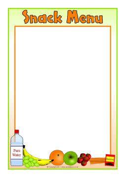 editable snack menu templates sb5492 sparklebox