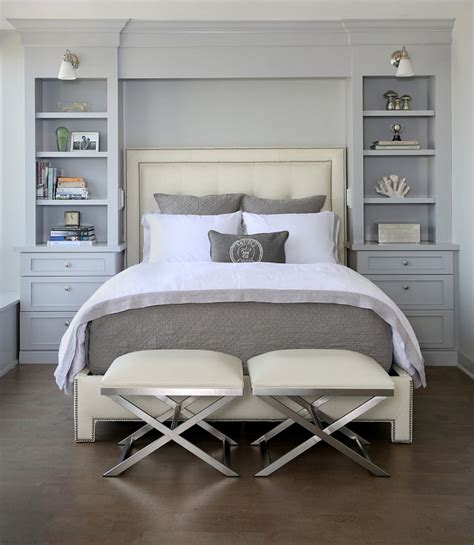 built in headboard ideas headboard bookcase transitional bedroom normandy