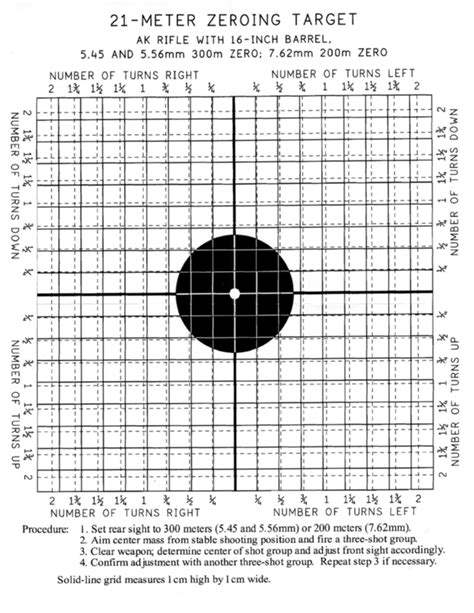 printable zero targets for m4 25 meter zero target quotes