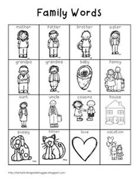 preschool coloring pages my family cut and paste kids family worksheets worksheets family
