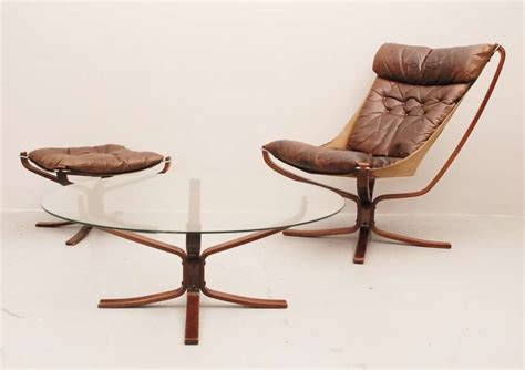 side by side hocker falcon club chair with hocker and side table at 1stdibs