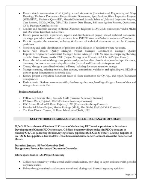 sle resume for document controller resume document 55 images resume exles word document