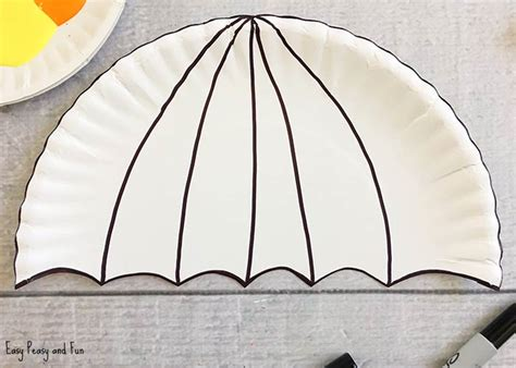 How To Make A Paper Dome Step By Step - umbrella paper plate craft weather crafts for