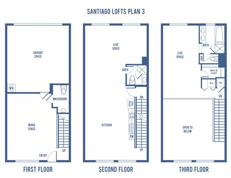 Stadium Lofts Anaheim Floor Plans by Santiago Street Lofts Plan 3