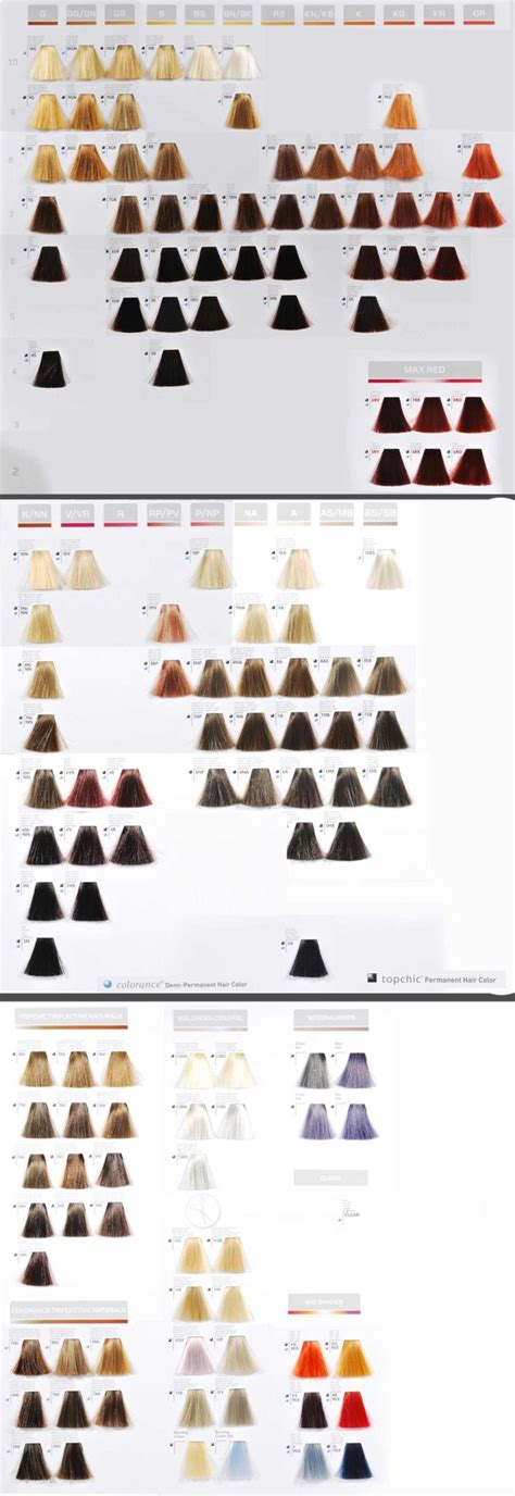 goldwell hair color chart 20 best goldwell color images on hair color