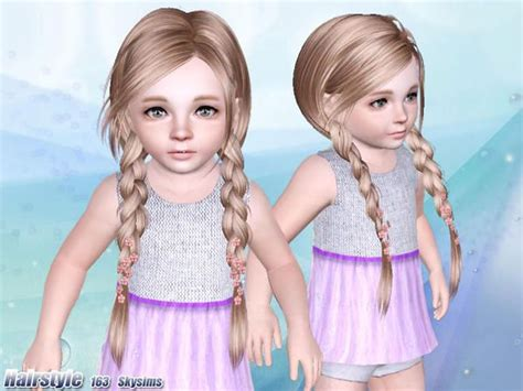 tsr kids hair skysims hair toddler 163 sims 4 and 3 pinterest