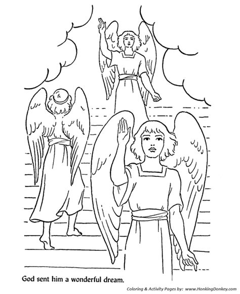 Bible Story Characters Coloring Page Sheets Jacob S