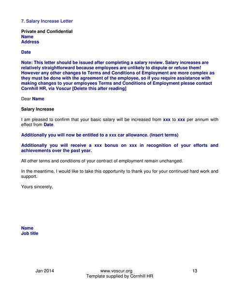 sle salary review letter template increment letter template cool 7 best two weeks notice