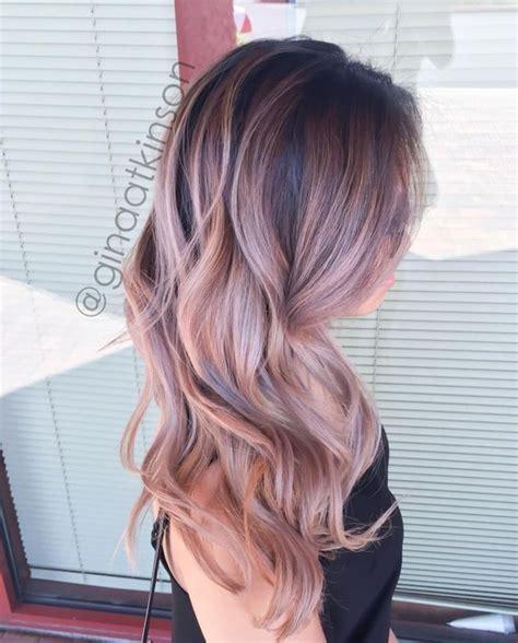 Bloude Dusty Pink transformation low maintenance dusty pink balayage hair