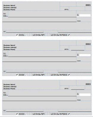 Blank Check Template Deposit Form Check Printing Template