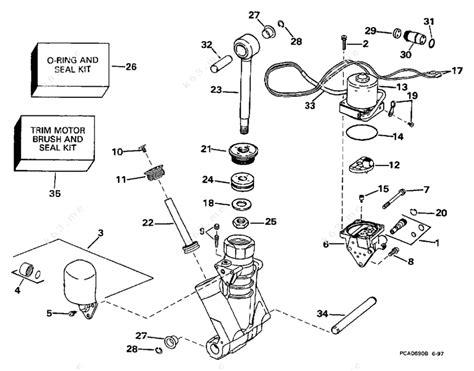 Evinrude 1998 150 Se150wtply Power Trim Tilt Hydraulic