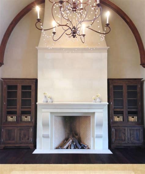 Sunroom Fireplace Elegant Tall Limestone Fireplace Traditional Living