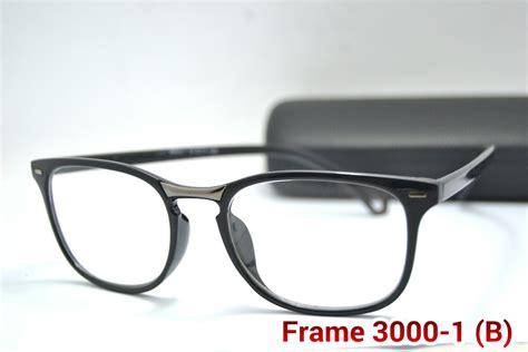 Frame Kacamata Lensa Minus Baca Antiradiasi Pria Wanita Korea Kotak 30 jual frame kacamata pria wanita kode 3000 1 lensa baca minus eyewear mang jajang store
