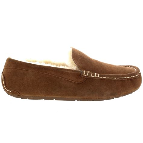 mens slippers loafers mens genuine australian suede sheepskin fur loafers