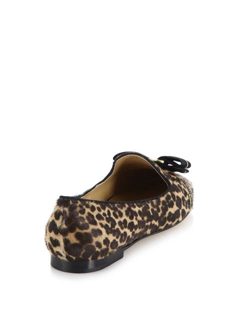leopard print loafers for ferragamo scotty leopard print calf hair loafers lyst