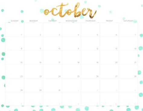 printable october 2017 calendar cute october 2017 calendar cute printable calendar weekly