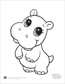 baby animal coloring pages learning friends hippo baby animal coloring printable from