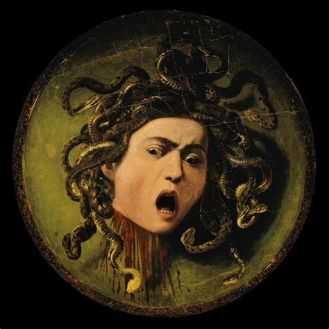testa di medusa caravaggio medusa painted on a leather jousting sh michelangelo
