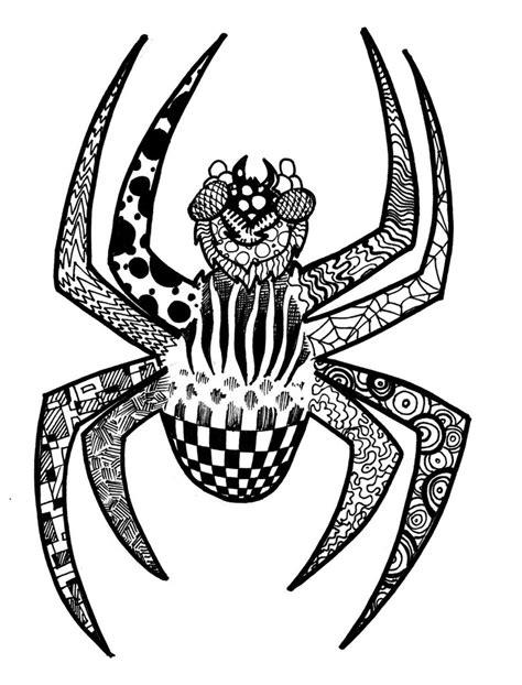 zentangle patterns printable animals zentangle spider by nickmockoviak on deviantart