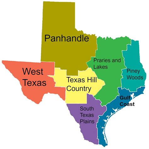 texas map with regions 40 places to see in texas besides the alamo