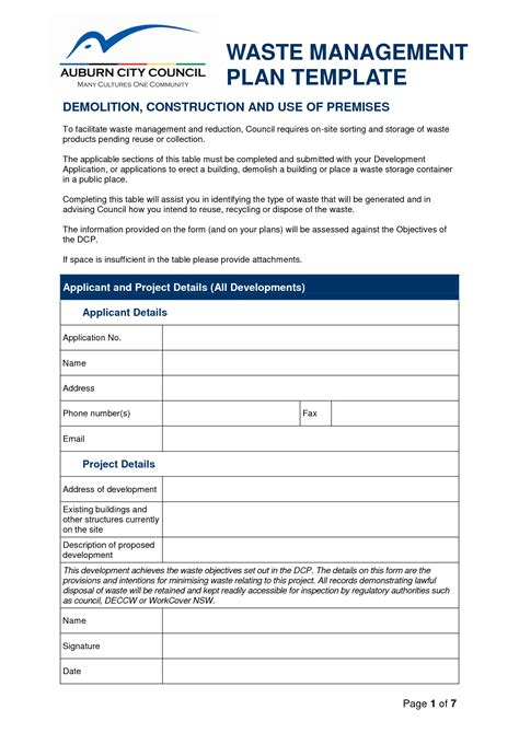 Waste Management Program Template Best Photos Of Sle Program Management Plans Project Management Plan Template Program