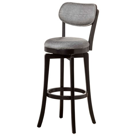 Wood Swivel Bar Stools by Hillsdale Wood Stools Swivel Bar Stool With Gray Back