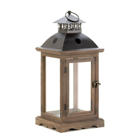 home decor lanterns monticello wood lantern l at koehler home decor