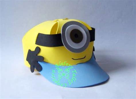 gorro en goma eva foami minions imagui taller creativo alefers molde para hacer gorras imagui