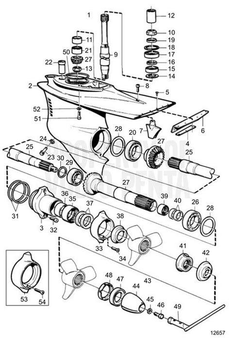 volvo penta dp sm 1 95 volvo penta exploded view schematic lower gear unit dp