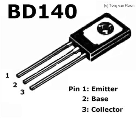 transistor bd140 pin configuration tecnorik transistores