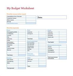 budget worksheet template budget spreadsheet template 3 free excel documents