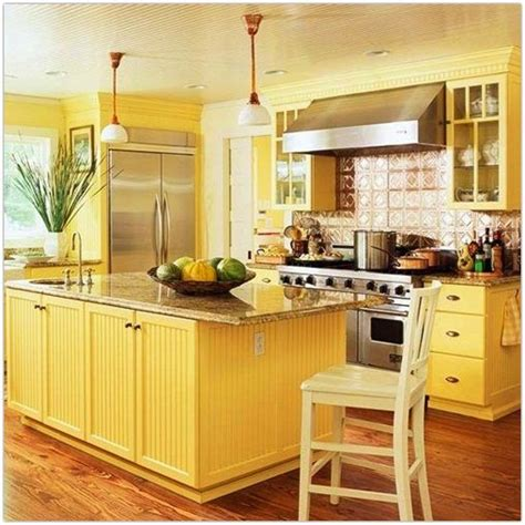 buttery yellow kitchen the kitchen