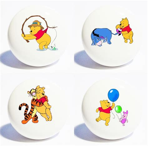 four winnie the pooh home decor ceramic kitchen knobs