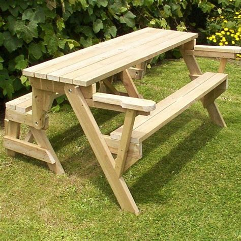 build   piece folding picnic table diy projects