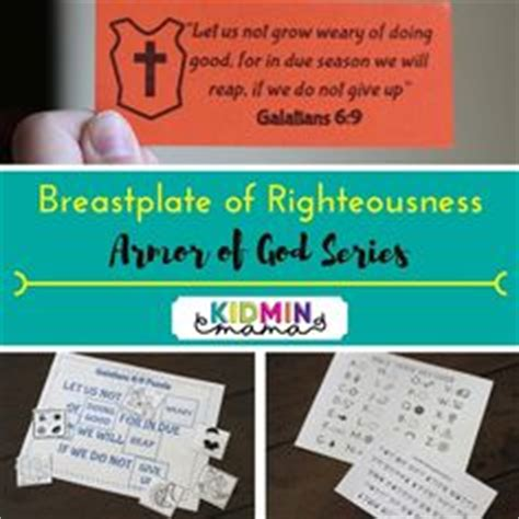 breastplate of righteousness template armor of god review lesson and armor of god