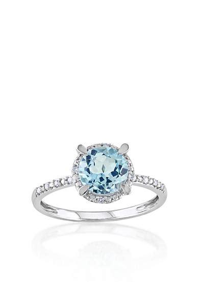 belk co 10k white gold blue topaz and ring belk