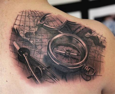 cool compass tattoos pusula 171 casper
