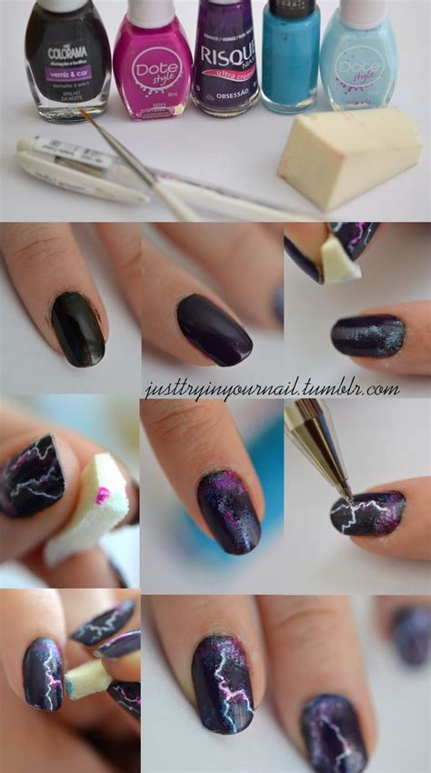 Awesome Easy Nail Art Designs Step By Step #1: 12-step-by-step-halloween-nail-art-tutorials.jpg