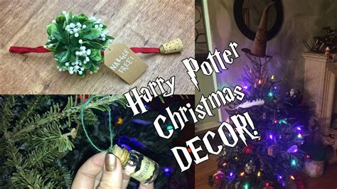 harry potter tree topper diy harry potter decorations ornaments sorting hat tree topper mistletoe