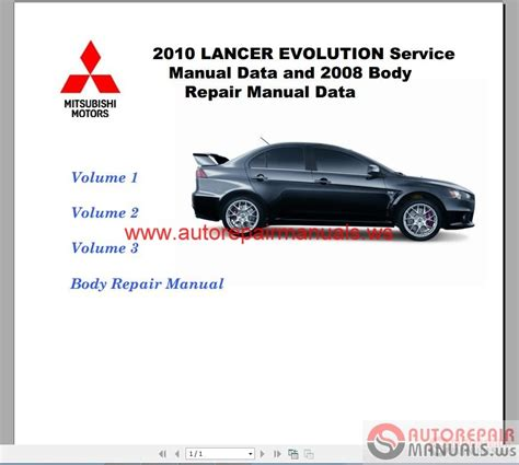 mitsubishi lancer evolution x service manual pdf getnine
