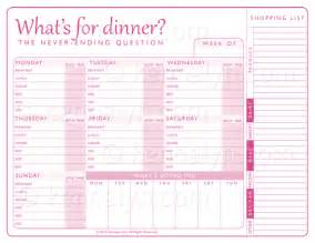 family menu planner template search results for weekly meal planner template