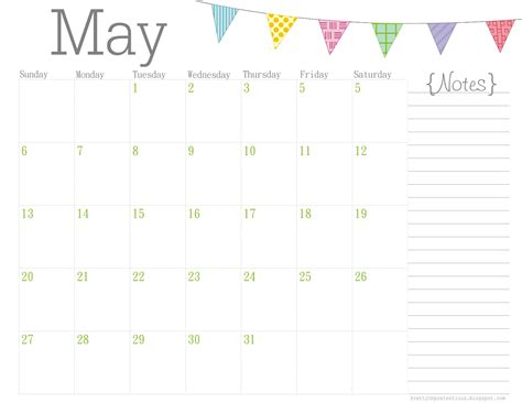 pretty calendar template free printable calendar may 2012
