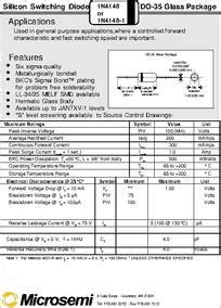 datasheet of zener diode 1n4148 1n4148 datasheet silicon switching diode do 35 glass package