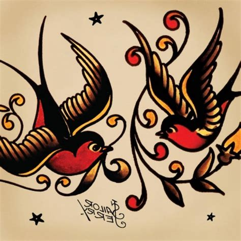 classic swallow tattoo design traditional designs meanings
