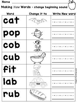 phoneme substitution changing letter sounds