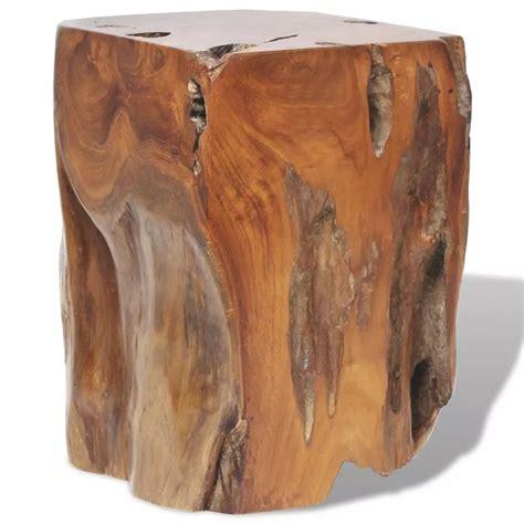 sgabello di legno vidaxl sgabello in legno massello di teak 30x30x40 cm